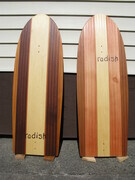 "western red and  yellow cedar 'paipo' boards  48""x16.5""x1"""